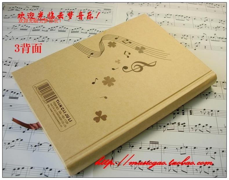 本 三角钢琴 高音谱号 五线谱硬面抄日记本 3C数码 第一POS